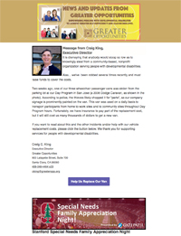 Greater Opportunities Email Newsletter August 12 2016