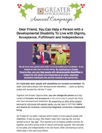 Greater Opportunities Email Newsletter November 23 2016