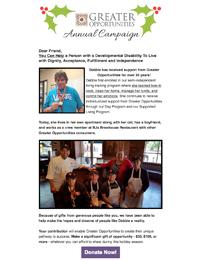 Greater Opportunities Email Newsletter December 7 2016