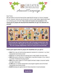 Greater Opportunities Email Newsletter December 30 2016