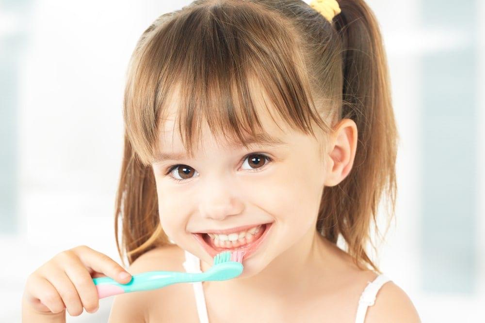 Child with brush