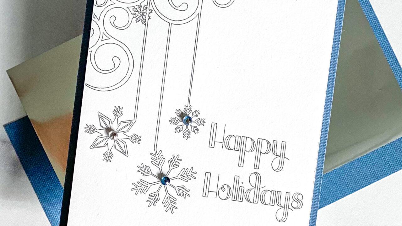 Happy Holidays Cricut Foil Card