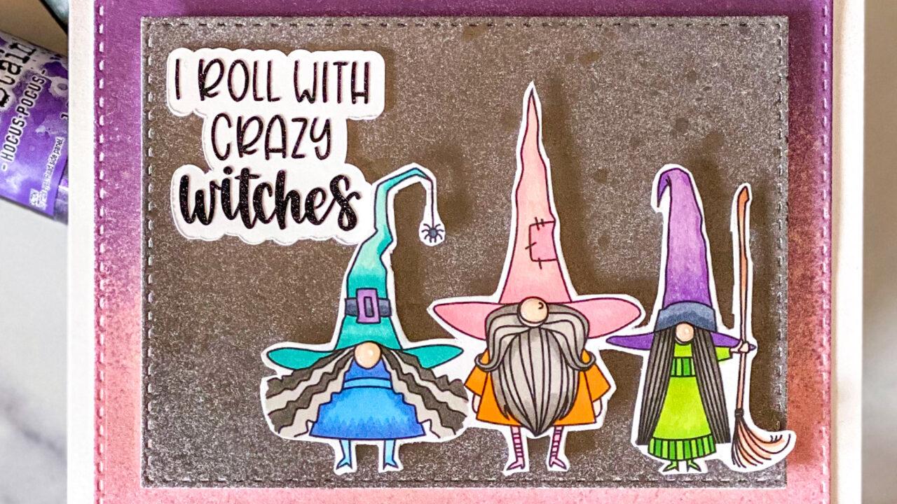 Halloween Gnome Digital Stamp Card
