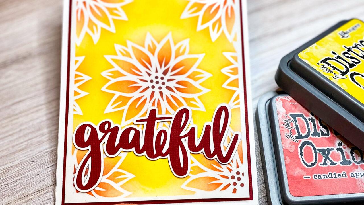 Vinyl Resist Grateful Flower Card