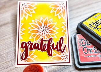 Vinyl Resist Grateful Cricut Card