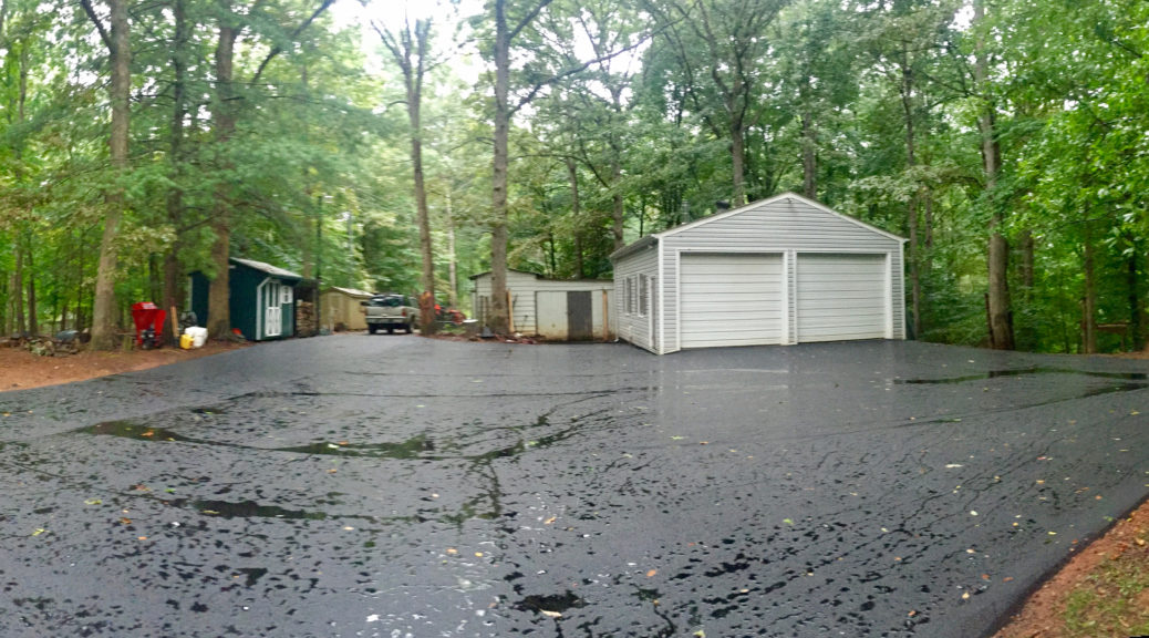 Driveway in the Rain
