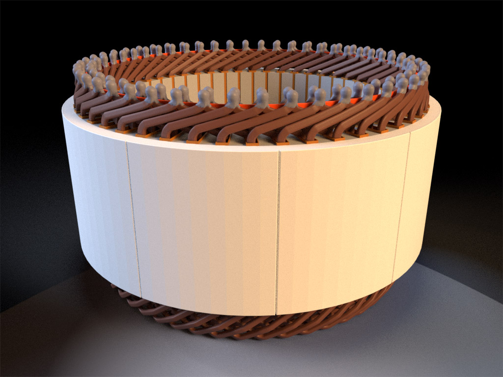 Electric motor component containing C64700 silicon bronze