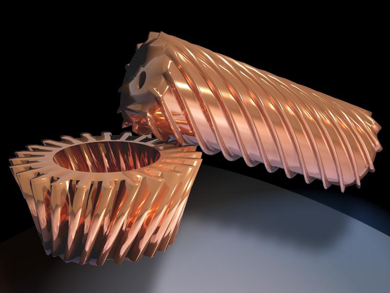 A gear made from C62300 Aluminum Bronze
