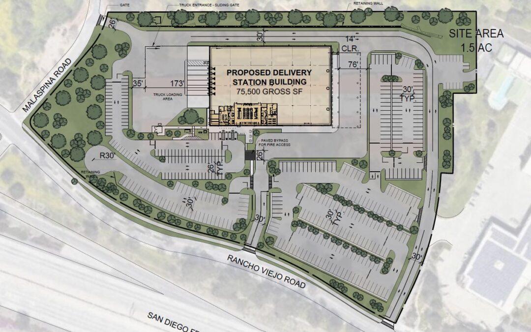 30700 Rancho Viejo Rd, San Juan Capistrano, Proposed 75,500 SF High Velocity Fulfillment Center – 288 Standard Van Stalls