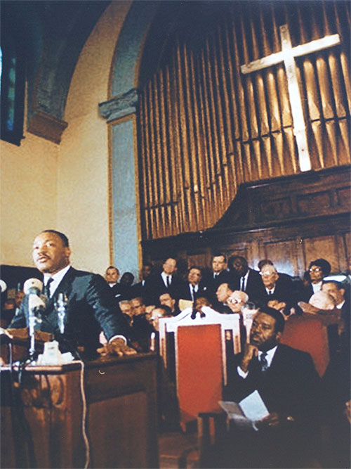 Dr. Martin Luther King at Brown Chapel in 1965