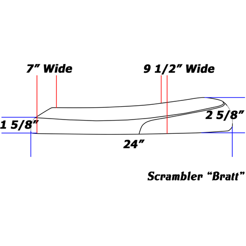 Bratt Seat Line drawing