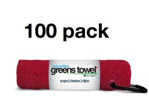 Red Microfiber Golf Towels