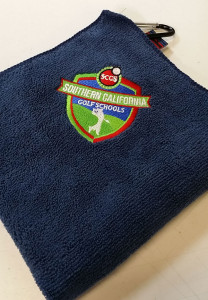 Embroidery Navy Blue Golf Towel