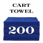 200 royal blue cart towels