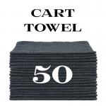 50 charcoal gray cart towels