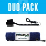 Navy Blue Greens Towel and Club Brush combination