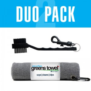Greens Towel Silver and Club Brush combination