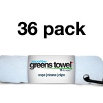 Pure White 36 Pack of Greens Towels
