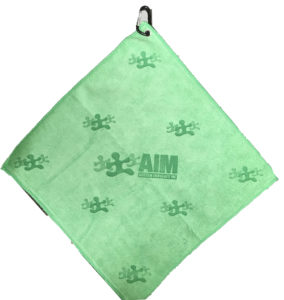 Green golf towel custom laser etch scatter logo
