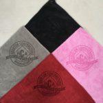 assortment mix logo golf towels laser etch logo