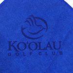 Laser Etch Blue Golf Towel Microfiber Golf Towel Royal Blue