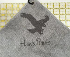Custom Logo Laser Etch Microfiber Golf Towel Sand