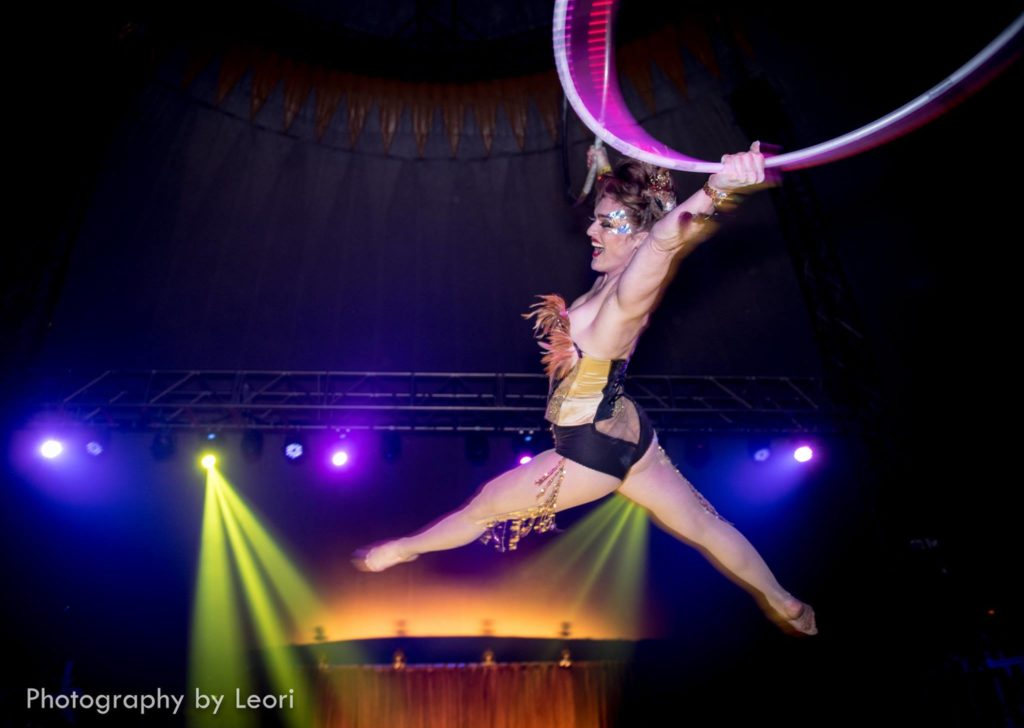 Acrobat Erin Shredder in the New 'Soiled Dove' Show