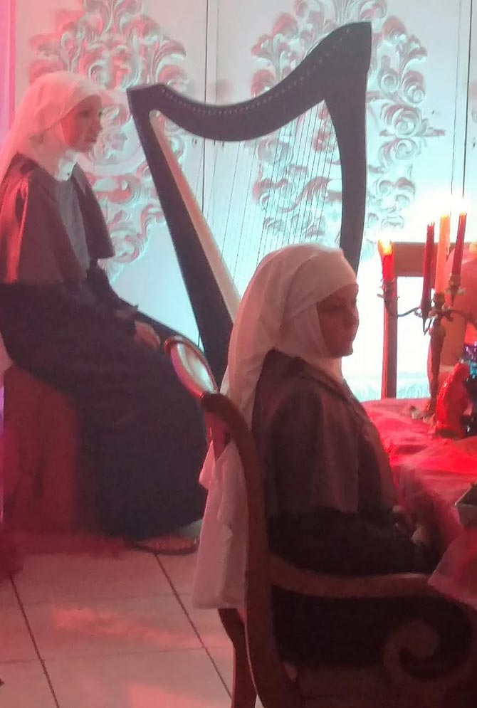 Sister Near the Harp