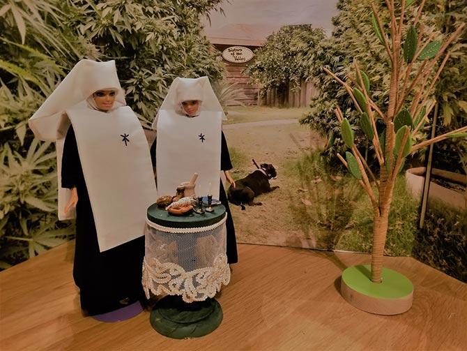 Dolls Display of Selling Cannabis