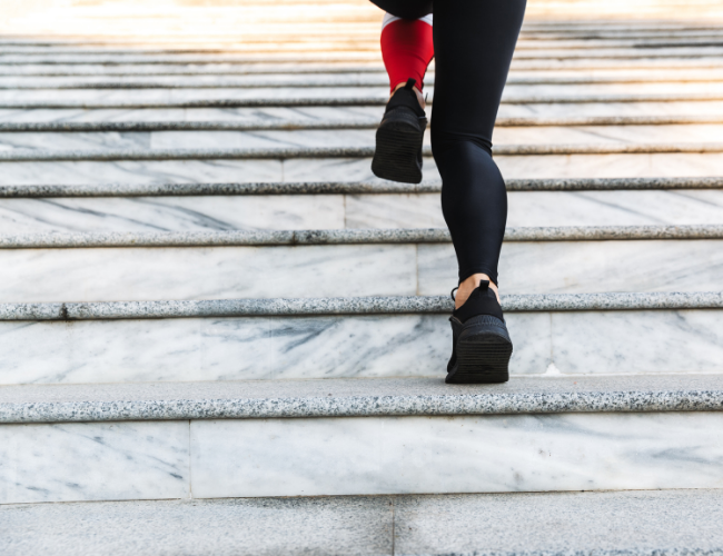 Get Moving: Full Body, No Equipment Needed Workout On Stairs