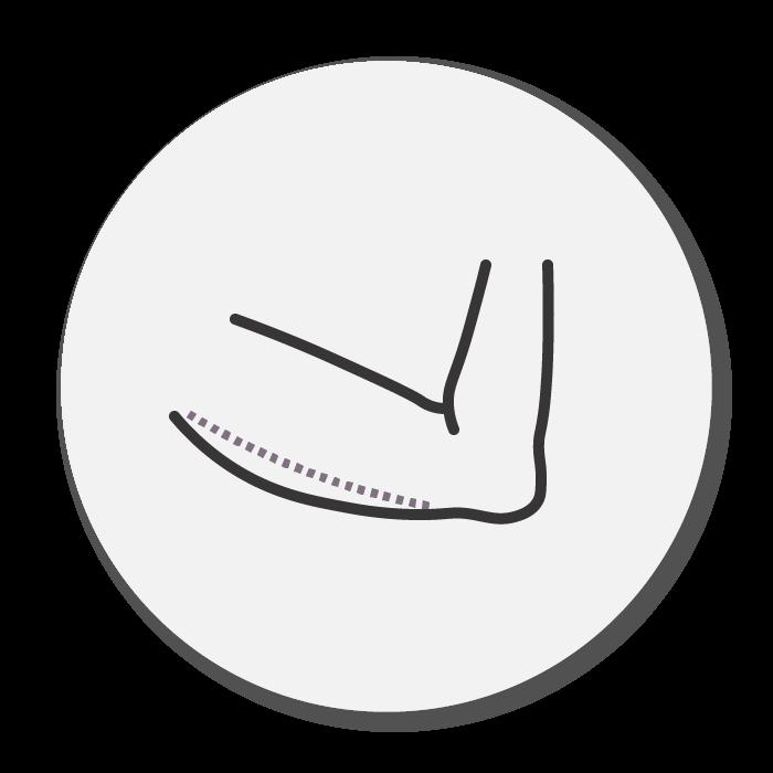 arm flab icon