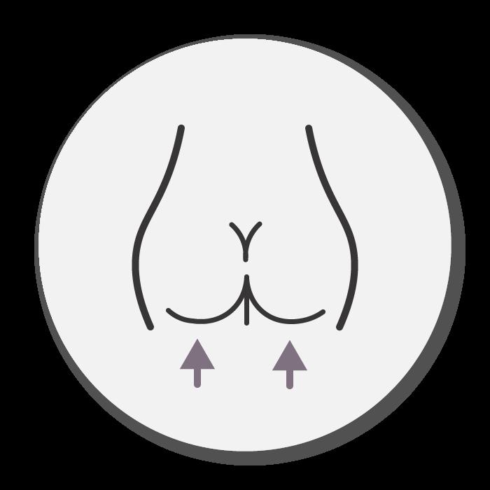 tighten buttocks icon