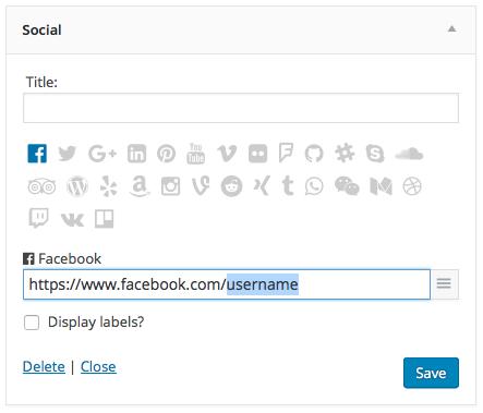 Social widget screenshot