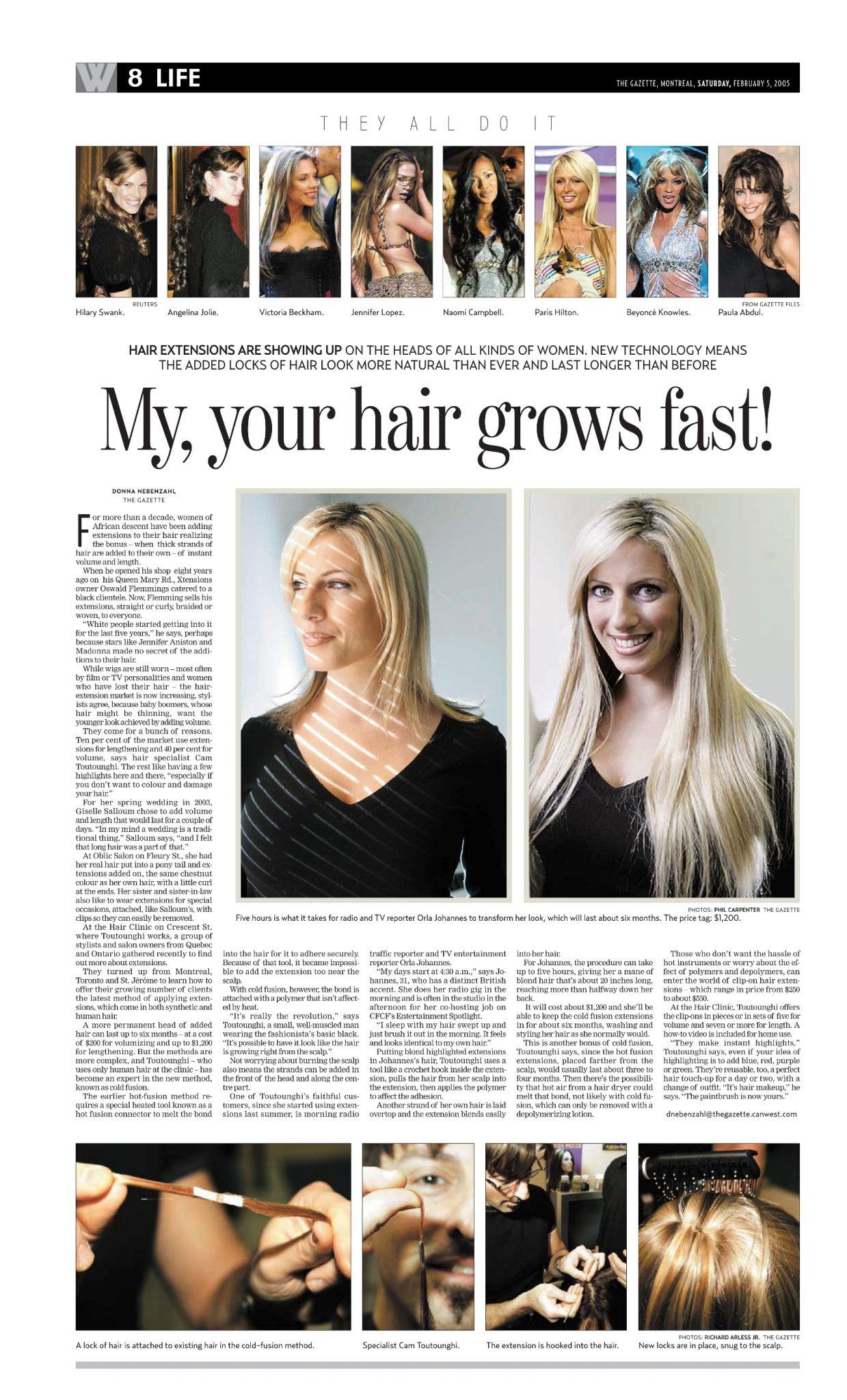 Article du quotidien La Gazette de Montréal sur La Clinique Ccapillaire de Montréal