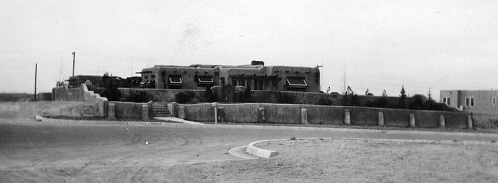 Historic photograph of an original home in Nob Hill in Albuquerque