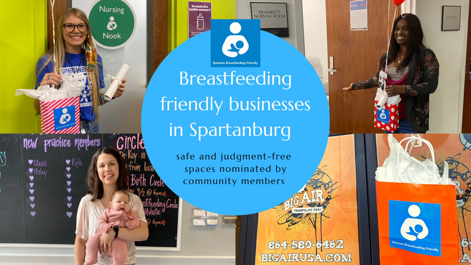 Breastfeeding friendly businesses blog graphic