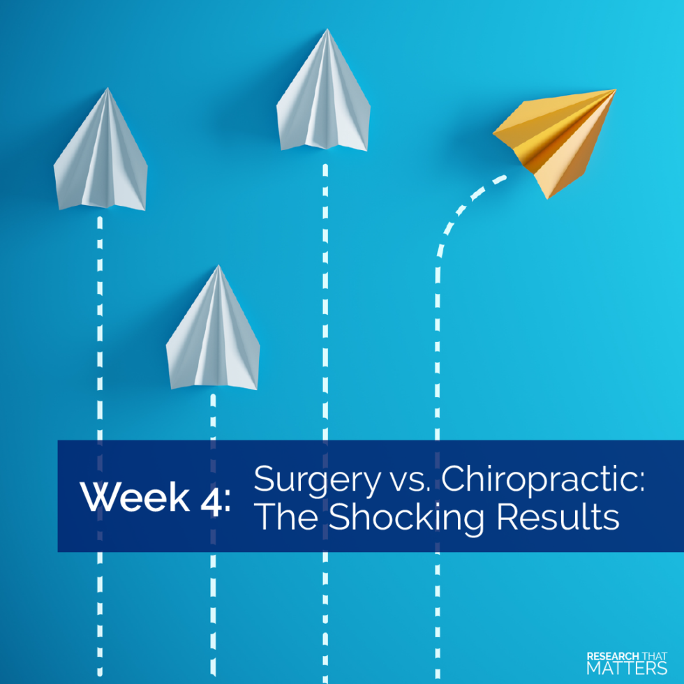 Surgery vs Chiropractic The Shocking Results