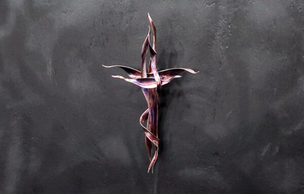 Copper Cross Religious Wall Art