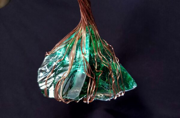 Copper Wire Glass Spirit Tree Sculpture