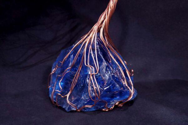 Glass Copper Wire Spirit Tree Sculpture