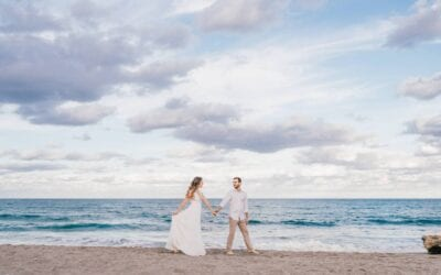 Florida Beach Engagement Session…and pizza!