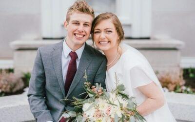 Wedding at the Bountiful Utah Temple