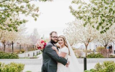 Ballgowns, Blossoms and Blush – A UTAH SPRING WEDDING!