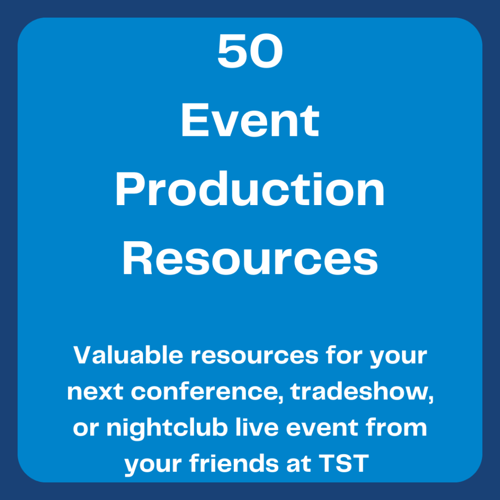 Event Production Resources - Total Show Technology