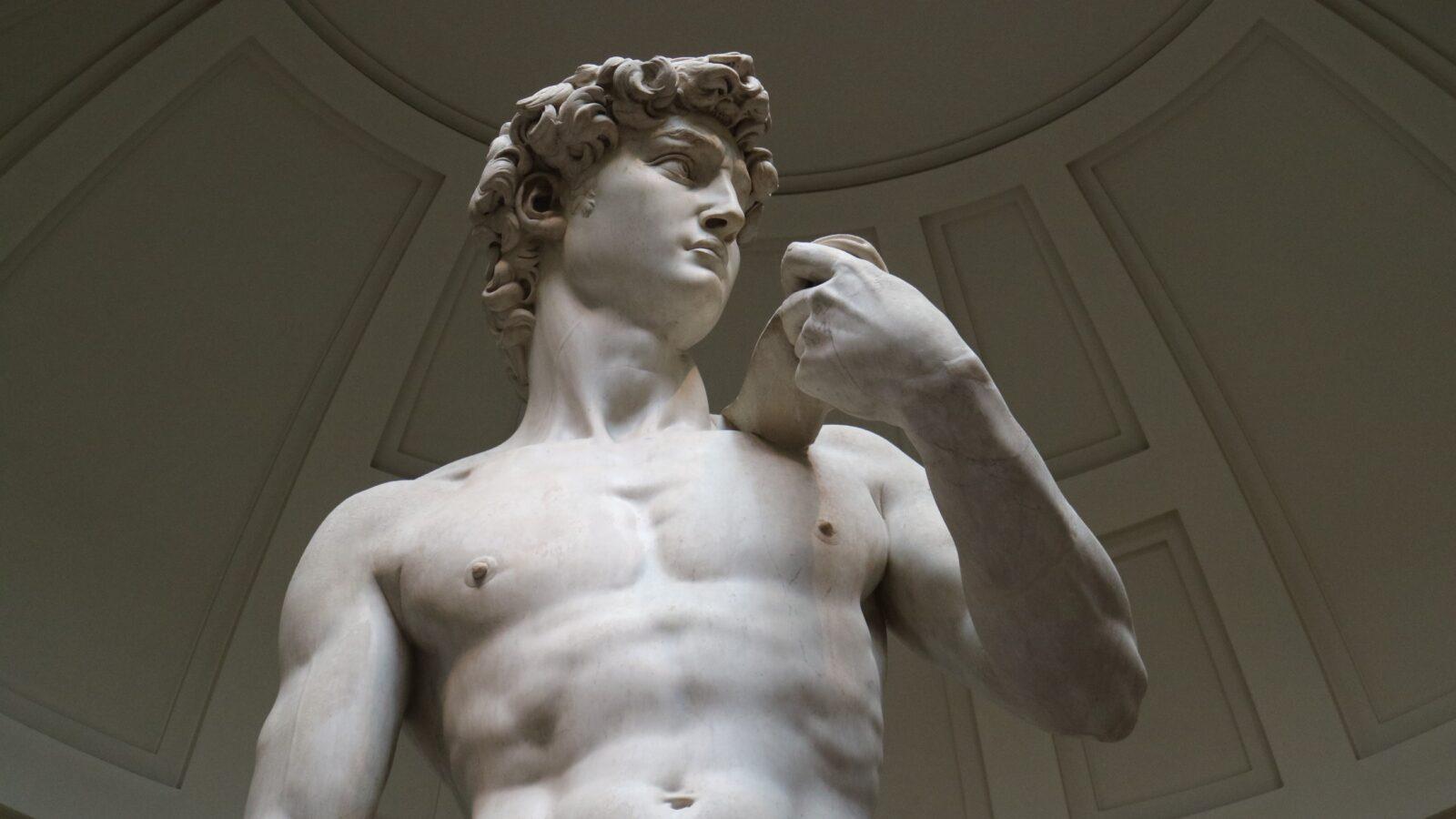 David Statue - Roman Marble Statue - male naked