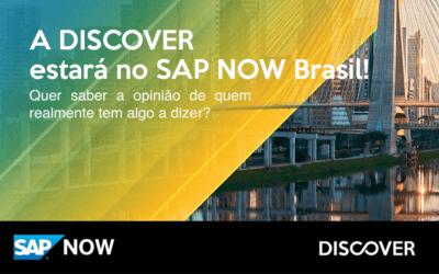 A Discover estará no SAP NOW Brasil 2021