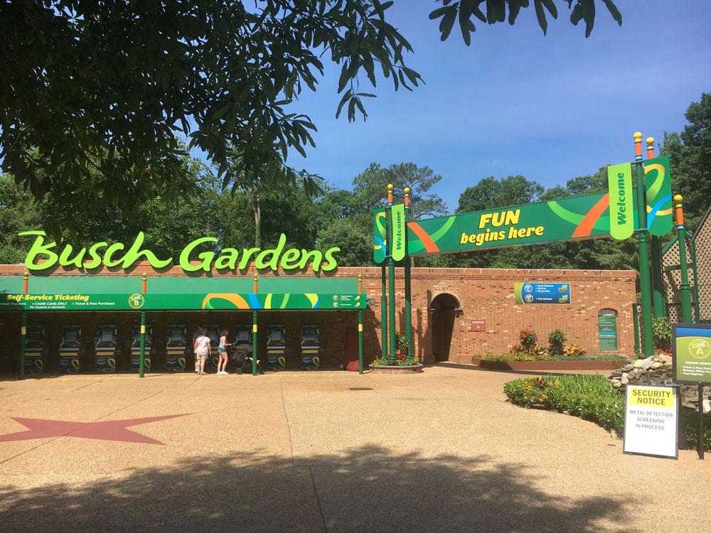 Busch Gardens Williamsburg Ticket Kiosk