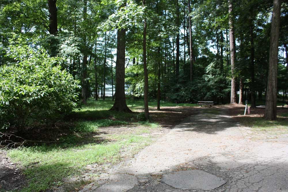 Campsite at Newport News Park Campground