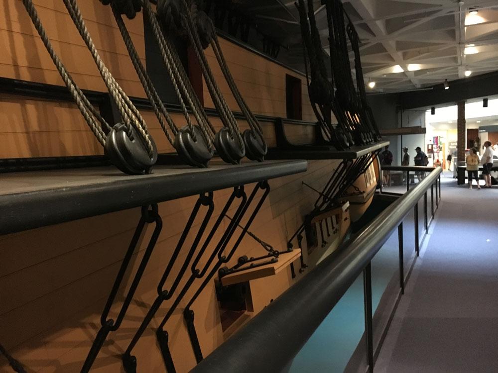 Yorktown Battlefield Ship Replica