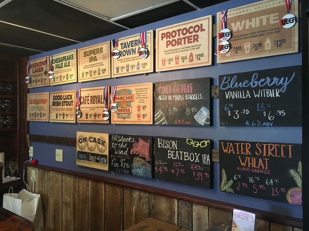 Virginia Peninsula Breweries Alewerks Menu Williamsburg Craft Brewery